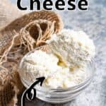 Homemade Ricotta Cheese Pinterest Image top outlined title
