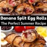 Banana Split Egg Rolls middle black banner