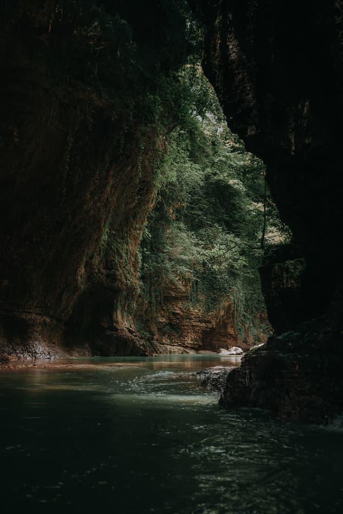beautiful cave in Georgia