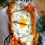 Summertime Khachapuri Recipe Pinterest Image top outlined title
