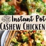 Instant Pot Cashew Chicken Pinterest Image middle design banner