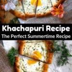 Summertime Khachapuri Recipe Pinterest Image middle black banner