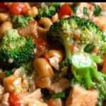 Easy Cashew Chicken Recipe Pinterest Image top black banner