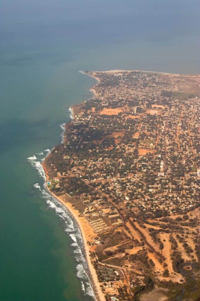 Coastline of The Gambia from above