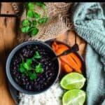 Delicious Cuban Black Beans top black banner