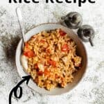 Summertime Tuna and Rice Pinterest Image top outlined title