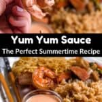 Homemade Yum Yum Sauce Pinterest Image middle black banner