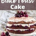 German Black Forest Cake Pinterest Image top design banner