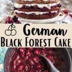 German Black Forest Cake Pinterest Image middle design banner