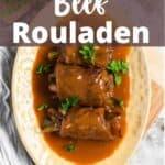 Beef Rouladen Pinterest Image top design banner