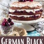 German Black Forest Cake Pinterest Image bottom design banner