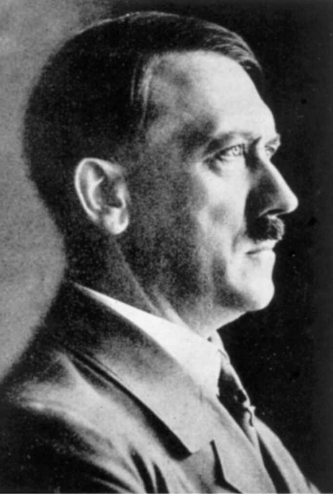 Side profile of hitler