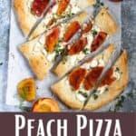 Peach Pizza Pinterest Image bottom design banner