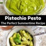 Summertime Pistachio Pesto Pinterest Image middle black banner