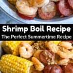 Instant Pot Shrimp Boil Pinterest Image middle black banner
