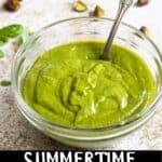 Summertime Pistachio Pesto Pinterest Image bottom black banner