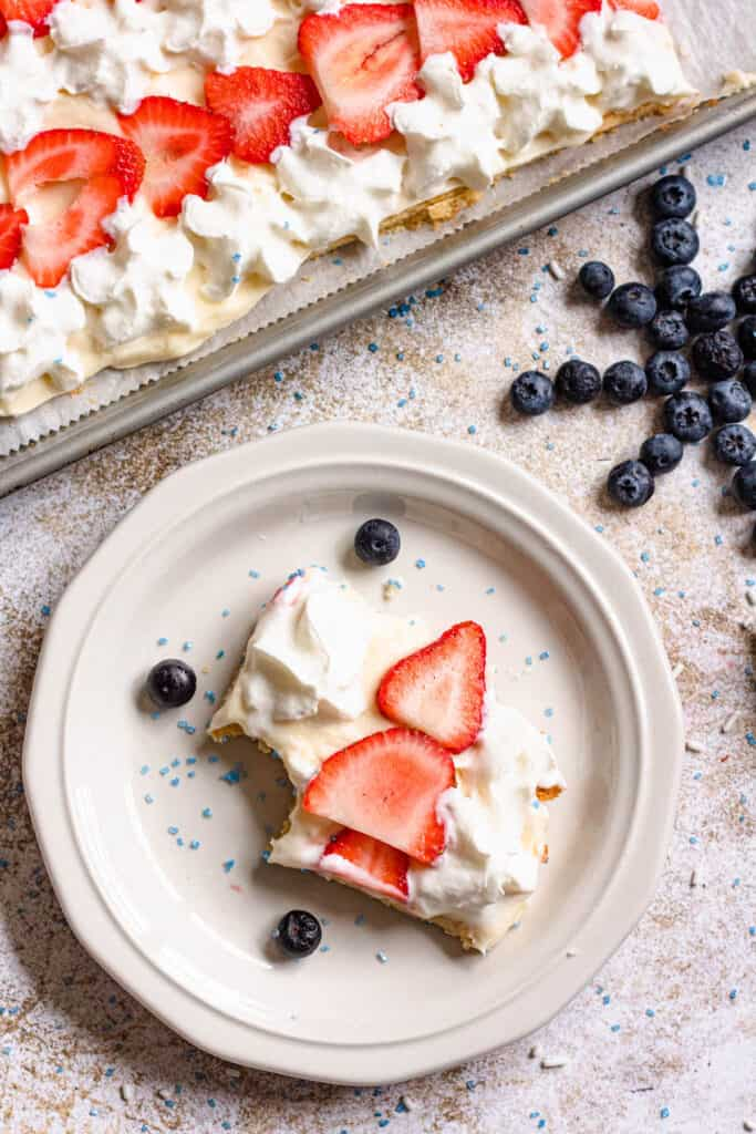 piece of fourth of july cookie pie