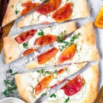 Peach Pizza with Goat Cheese and Honey