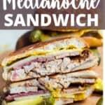 Medianoche Sandwich Pinterest Image top design banner