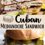 Medianoche Sandwich Pinterest Image middle design banner