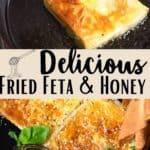 Fried Feta and Honey Pinterest Image middle design banner