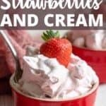 Strawberries and Cream Pinterest Image top design banner
