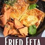 Fried Feta and Honey Pinterest Image bottom design banner