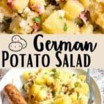 German Potato Salad Pinterest Image middle design banner