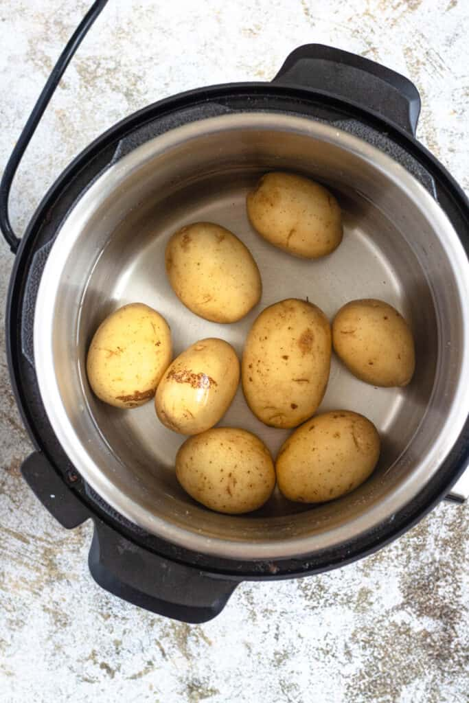 potatoes in the pressure cooker