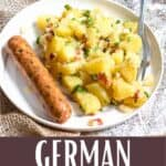 German Potato Salad Pinterest Image bottom design banner