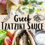 Tzatziki Sauce Pinterest Image middle design banner