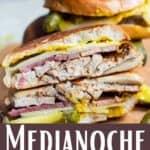 Medianoche Sandwich Pinterest Image bottom design banner