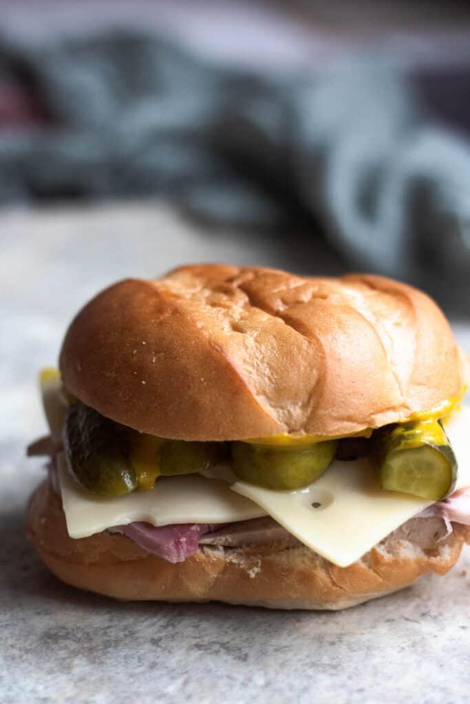 untoasted medianoche sandwich