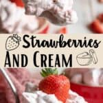 Strawberries and Cream Pinterest Image middle design banner