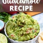 Homemade Guacamole Pinterest Image top design banner