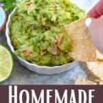 Homemade Guacamole Pinterest Image bottom design banner