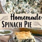 Spinach Pie Pinterest Image Middle design banner