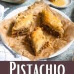 Pistachio Baklava Pinterest Image bottom design banner