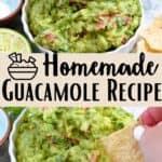 Homemade Guacamole Pinterest Image middle design banner