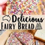 Delicious Fairy Bread Pinterest Image middle design banner