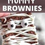 Halloween Mummy Brownies Pinterest Image top design banner