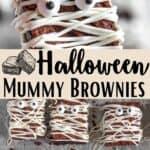 Halloween Mummy Brownies Pinterest Image middle design banner