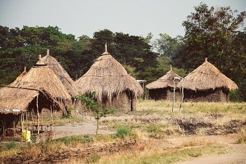 Huts in Guinea