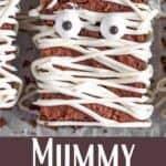 Halloween Mummy Brownies Pinterest Image bottom design banner