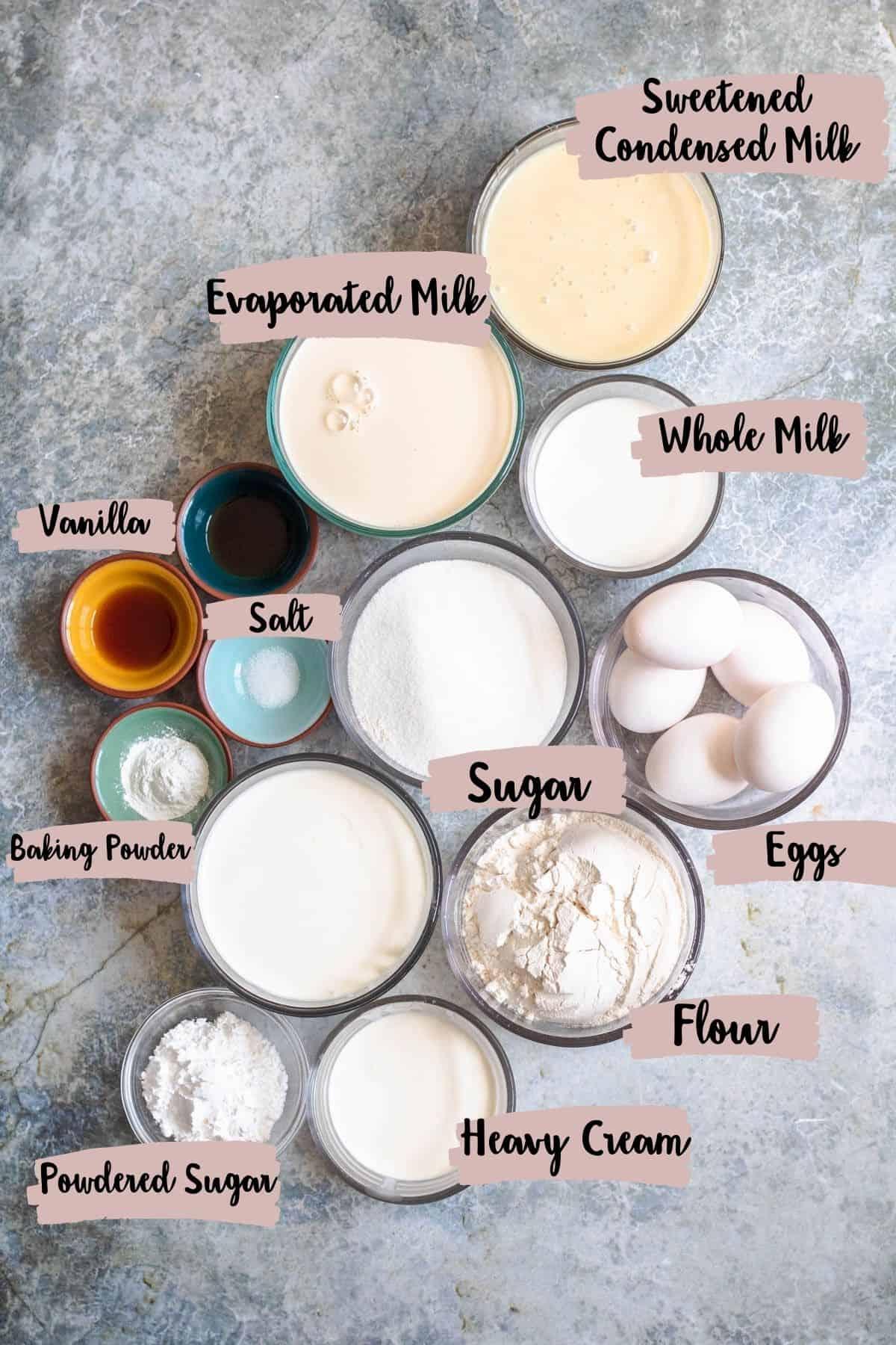 Labeled ingredient shot