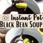 Instant Pot Black Bean Soup Pinterest Image middle design banner